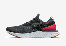 best website 6970f 2e026 Nike Epic React Flyknit AQ0067-006 Negro Rojo Blanco Gris Talle 14 hombre  para correr