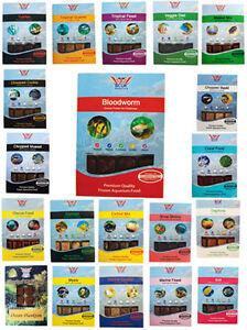 BCUK Frozen Fish food-1 x 100g packs--blood , brine etc--MIN 5 PACKS