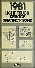 1981 Ford Van Service Specs Manual Econoline E100 E150 E250 E350 Club Wagon