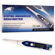 Mantis Digital Gravimeter Salinity Test Temp LCD Marine Reef Aquarium Fish Tank