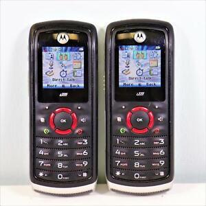 2x UNLOCKED Motorola i335 (Direct Talk iConnect) Radio PTT No Service Required