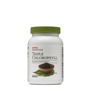 GNC Superfoods Triple Chlorophyll Powerful Antioxidant Toxins Body Clean 90Caps