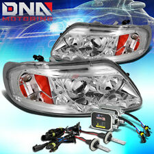 CHROME DUAL HALO PROJECTOR+LED 1PC HEADLIGHT+6000K SLIM HID FOR F150//EXPEDITION