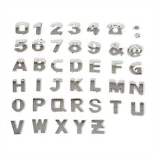 40pcs Car Alphabet letter Number Symbol Emblem Badge 3D DIY Decal Stickers Steel