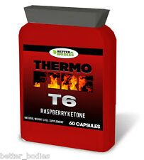 Raspberry Ketone T6 Fat Burner Weight Loss Diet Pills T5 STRONG 60 Pills Bottle