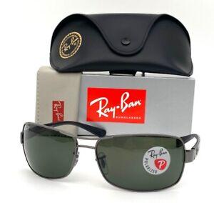 Ray BanRB3379 004/58 Gunmetal  Black / Green Polarized 64mm Sunglass