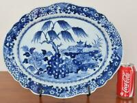 Chinese Export Blue White Porcelain Platter Qianlong Period Qing Dynasty 16.75""