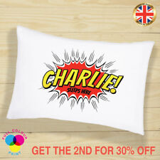 PERSONALISED Cushion Cover Pillow Case Kids Superhero Children Gift for Boys