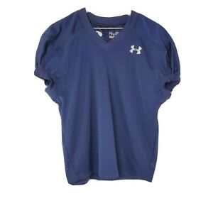 NWT Under Armour Heat Gear Mens Size Small Blue Plain Football Jersey