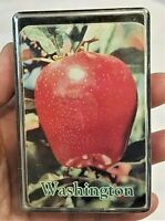 Washington (State) Red APPLE PLAYING CARDS Souvenir WA Orchards Vintage Vtg