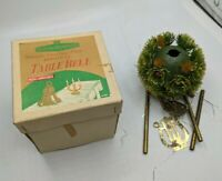 ANTIQUE-MID-CENTURY MODERN WOOLWORTHS TABLE BELL WIND CHIME XMAS BOX VTG RETRO