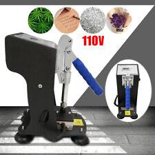 "2""x3"" Mini Rosin Heat Press Machine Hand Crank Dual Heated Plates Handheld 110V"
