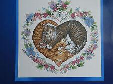 'Kittens in Love' Cat Cross Stitch Kit 14ct