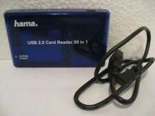 Hama USB 2.0 Multi Card Reader Writer 35in1 Micro SD CM I II working condition