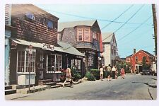 Postcard BEARSKIN NECK SHOPPING AREA, ROCKPORT, MA