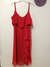 Ladies sexy red dress YOURS size 20 party spaghetti straps tiered lined 142