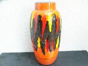 Fat Lava Scheurich Vase 553-38, 70er Jahre, Keramik, SEHR SCHÖN !!