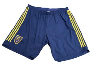 Adidas MLS Real Salt Lake 2XL Athletic Shorts Blue/Red/Yellow Sz 2XL ce6274