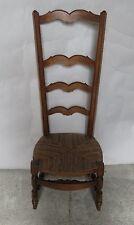 Chaise de nourrice paillée ancienne