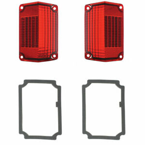 Tail Light Lens & Gasket Kit, Fits Chevy El Camino & Station Wagon R L 1968-1969