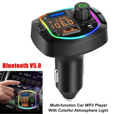 12 24v Car Bluetooth Mp3 Player With Colorful Atmosphere Light Multi Function Fits 2002 Mitsubishi Eclipse