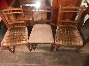 3 Old Dining Chairs