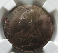 GREAT BRITAIN England 1/2 penny 1901 NGC MS 63 UNC Victoria