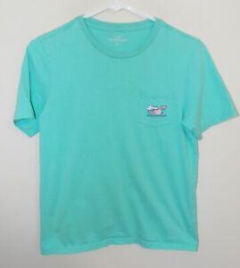 Boy's Vineyard Vines Vacation Whale Pocket T-Shirt S/S Green Medium
