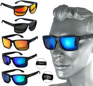Rennec Herren Sonnenbrille Polarisiert Nerd Club Carbon UV400 Verspiegelt R16&CB