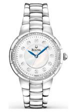 $475 BULOVA Rosedale Diamond Stainless Steel Ladies Watch 96R174