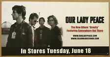 Our Lady Peace Rare 2002 Double Sided Promo Poster w/ Release Date 4 Gravity Cd