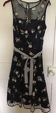 Laura Ashley Dress Navy Rose Floral size 10 BNWT wedding evening