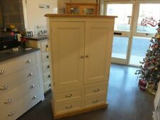RUTLAND PAINTED LARDER CUPBOARD SPICE RACKS BESPOKE SIZES & COLOURS - OFF WHITE