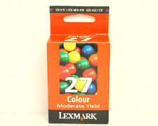 Cartouche d'Encre Originale Origine LEXMARK 27 Couleur Genuine Color Ink New
