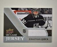 2020-21 UD Series 1 Game Jersey Relic #GJ-JQ Jonathan Quick  - Los Angeles Kings