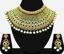Indian Bollywood Traditional Bridal Jodha  Akhbar Choker Necklace Jewelry Set