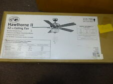 Hampton Bay Hawthorne Ii 52 In. Brushed Nickel ceiling fan *201