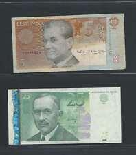 Estonie     Lot de 2 billets  différents  en état TTB Lot N° 2