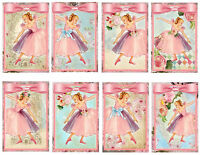 Pink Ballerina's Glossy Finish Card Topper - Crafts Embellishment