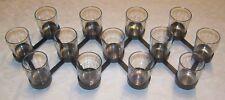Noire Chandelier pour 13 Bougie chauffe-plat télescopique jusqu'à 80 cm