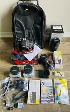 Canon EOS Rebel T6I 24.2MP Digital SLR Camera - Black +Lens 18-55mm & 75-300mm