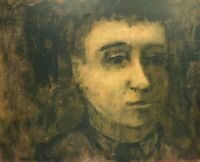 RALPH DUBIN 1919-1988 IMPRESSIONIST MODERNIST PORTRAIT PAINTING NEW YORK CITY