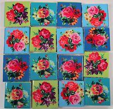 Ceramic Mosaic Tiles - Roses Flowers Focal Mosaic Tile Pieces Bright Colors Rose