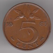 Netherlands 5 Cents 1963 Bronze Coin - Queen Juliana