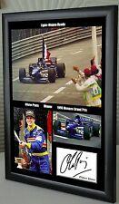 Olivier Panis 1996 Monaco F1 GP Winner Mercedes Framed Canvas Print Signed