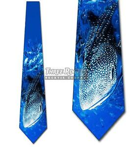Animal Ties Mens Whale Shark Ocean Necktie