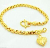 Chain 22K 23K 24K THAI BAHT YELLOW GOLD GP Bracelet Jewelry B78