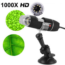 8LED 1000X 10MP USB Digital Microscope Endoscope Magnifier Camera With Stand LZ