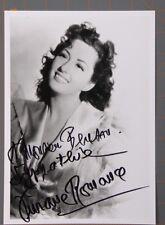 Viviane Romance Actress Signed Autographed Photo B/W 8x 10