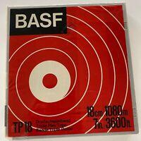 "BASF TP 18 Triple Play Reel to Reel 7"" 3600 ft Hard Plastic Storage Case Sealed"